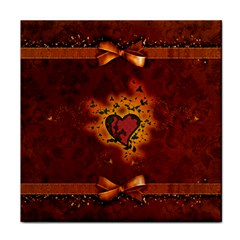 Beautiful Heart With Leaves Face Towel