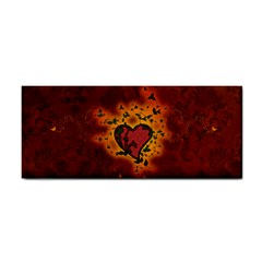 Beautiful Heart With Leaves Hand Towel