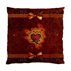 Beautiful Heart With Leaves Standard Cushion Case (One Side)