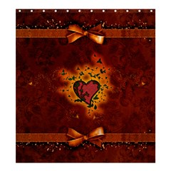Beautiful Heart With Leaves Shower Curtain 66  x 72  (Large)