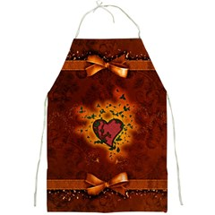 Beautiful Heart With Leaves Full Print Apron
