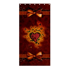 Beautiful Heart With Leaves Shower Curtain 36  x 72  (Stall)