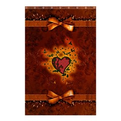 Beautiful Heart With Leaves Shower Curtain 48  x 72  (Small)