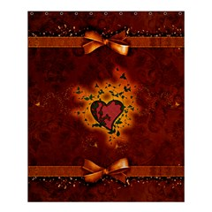 Beautiful Heart With Leaves Shower Curtain 60  X 72  (medium)