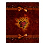 Beautiful Heart With Leaves Shower Curtain 60  x 72  (Medium)  60 x72  Curtain