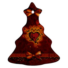 Beautiful Heart With Leaves Ornament (Christmas Tree)