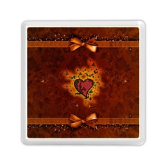 Beautiful Heart With Leaves Memory Card Reader (Square)