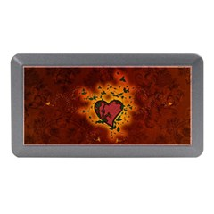 Beautiful Heart With Leaves Memory Card Reader (Mini)