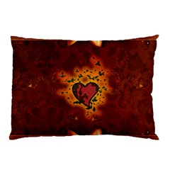Beautiful Heart With Leaves Pillow Case (Two Sides)