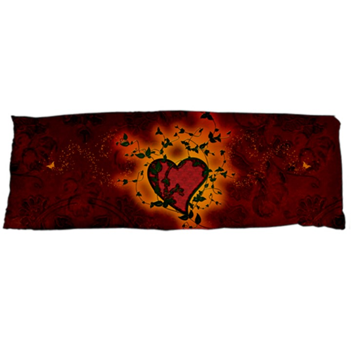 Beautiful Heart With Leaves Body Pillow Case (Dakimakura)