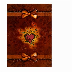 Beautiful Heart With Leaves Large Garden Flag (Two Sides)