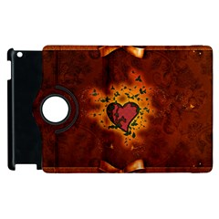 Beautiful Heart With Leaves Apple Ipad 2 Flip 360 Case