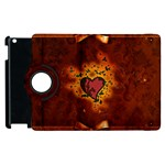 Beautiful Heart With Leaves Apple iPad 2 Flip 360 Case Front