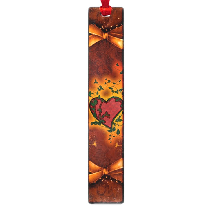 Beautiful Heart With Leaves Large Book Marks