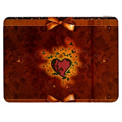 Beautiful Heart With Leaves Samsung Galaxy Tab 7  P1000 Flip Case