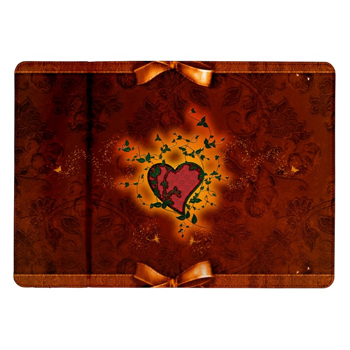 Beautiful Heart With Leaves Samsung Galaxy Tab 10.1  P7500 Flip Case