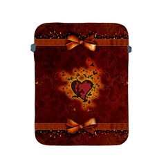 Beautiful Heart With Leaves Apple iPad 2/3/4 Protective Soft Cases