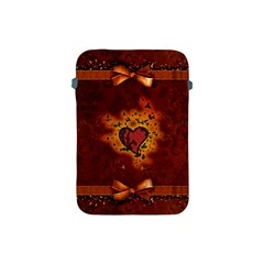 Beautiful Heart With Leaves Apple iPad Mini Protective Soft Cases