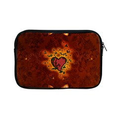 Beautiful Heart With Leaves Apple iPad Mini Zipper Cases