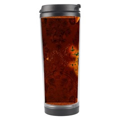 Beautiful Heart With Leaves Travel Tumbler