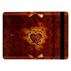 Beautiful Heart With Leaves Samsung Galaxy Tab Pro 12.2  Flip Case