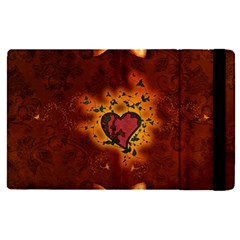 Beautiful Heart With Leaves Apple iPad Pro 12.9   Flip Case