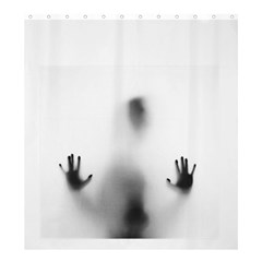 Creepy Shadow Shower Curtain 66  X 72  (large) by myuique