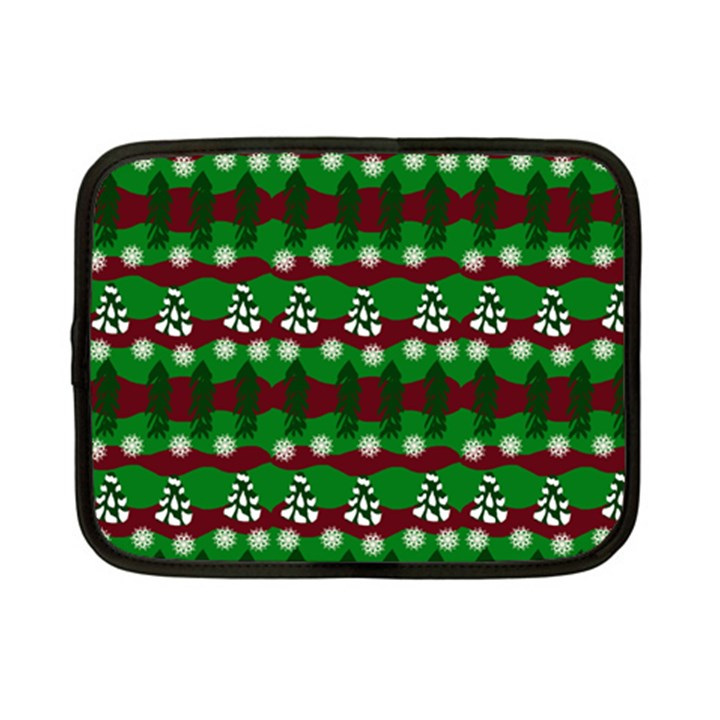 Snow Trees and Stripes Netbook Case (Small)