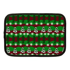 Snow Trees and Stripes Netbook Case (Medium)