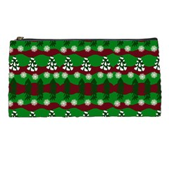 Snow Trees and Stripes Pencil Cases