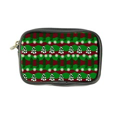 Snow Trees and Stripes Coin Purse