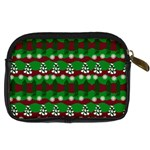 Snow Trees and Stripes Digital Camera Leather Case Back
