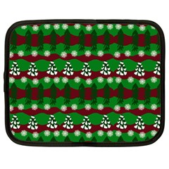 Snow Trees and Stripes Netbook Case (XL)