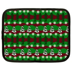 Snow Trees and Stripes Netbook Case (XXL)