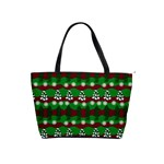 Snow Trees and Stripes Classic Shoulder Handbag Front