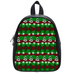 Snow Trees and Stripes School Bag (Small)
