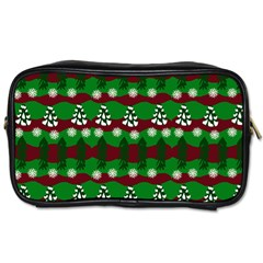 Snow Trees and Stripes Toiletries Bag (One Side)