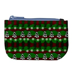 Snow Trees and Stripes Large Coin Purse