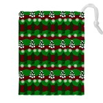 Snow Trees and Stripes Drawstring Pouch (2XL) Front