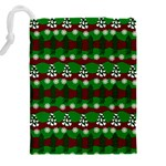 Snow Trees and Stripes Drawstring Pouch (2XL) Back