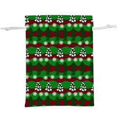 Snow Trees and Stripes  Lightweight Drawstring Pouch (XL)