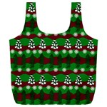Snow Trees and Stripes Full Print Recycle Bag (XXL) Back
