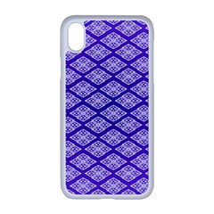 Pattern Texture Geometric Violet Iphone Xr Seamless Case (white)