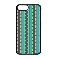 Background Chevron Blue Iphone 8 Plus Seamless Case (black)