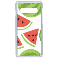 Watermelon Juice Auglis Clip Art Watermelon Samsung Galaxy S10 Seamless Case(white)