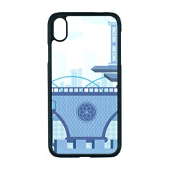 Blue City Building Fantasy Iphone Xr Seamless Case (black) by Vaneshart
