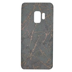 Marble Old Vintage Pinkish Gray With Bronze Veins Intrusions Texture Floor Background Print Luxuous Real Marble Samsung Galaxy S9 Tpu Uv Case by genx