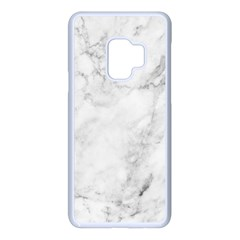 White Marble Texture Floor Background With Dark Gray Grey Texture Greek Marble Print Luxuous Real Marble Samsung Galaxy S9 Seamless Case(white) by genx