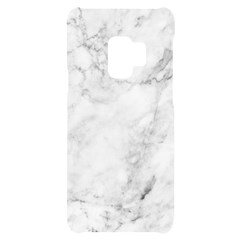 White Marble Texture Floor Background With Dark Gray Grey Texture Greek Marble Print Luxuous Real Marble Samsung S9 Black Uv Print Case by genx