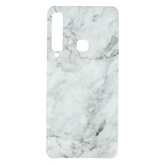 White Marble Texture Floor Background With Dark Gray Grey Texture Greek Marble Print Luxuous Real Marble Samsung Galaxy A9 Tpu Uv Case by genx